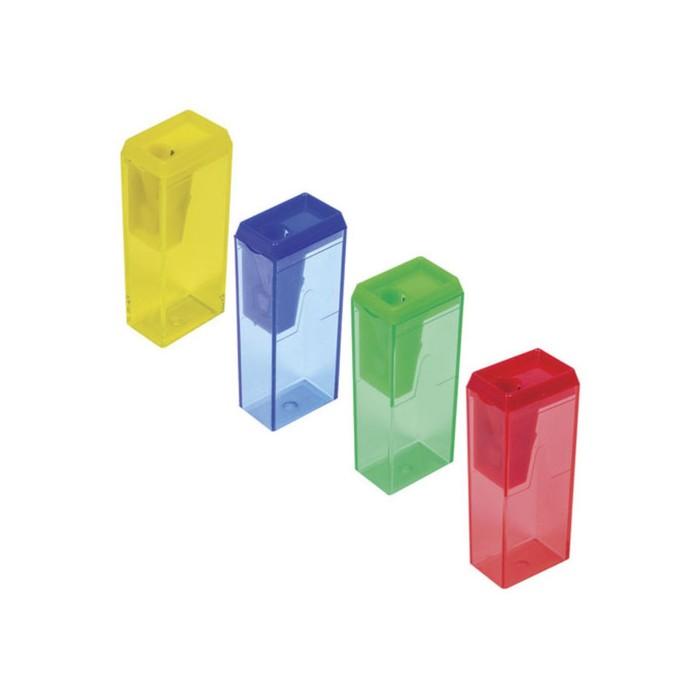 Точилка 1 отверстие с контейнером ПИФАГОР, микс 226530 фото