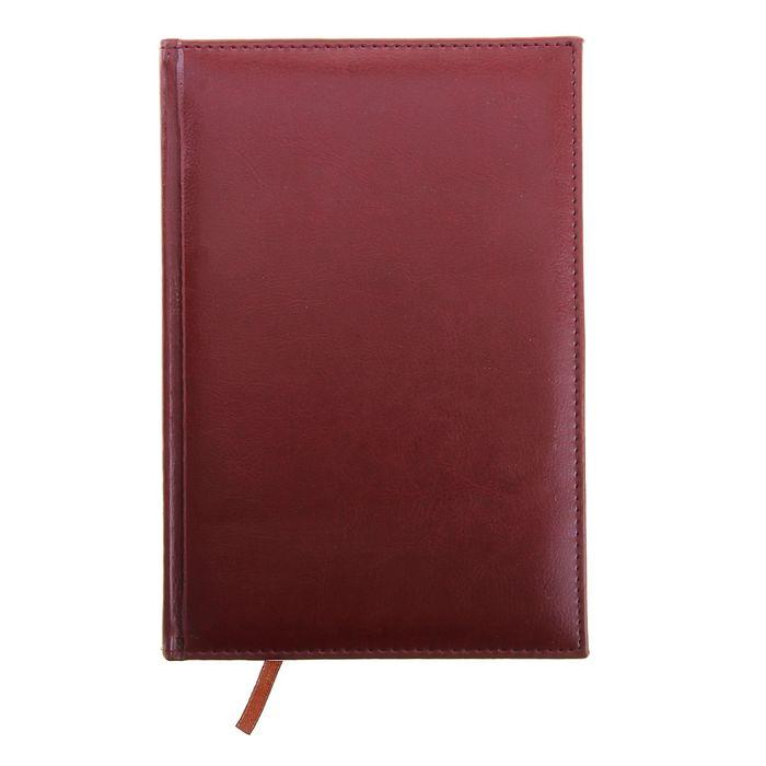 Ежедневник полудатированный,формат А5,193 листа,линия,золотой срез,перфорированный угол,ляссе,бордо фото