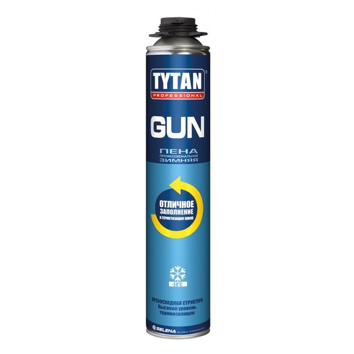 Пена монтажная Tytan ПРОФ GUN, зимняя, 750 мл, до 45 л фото