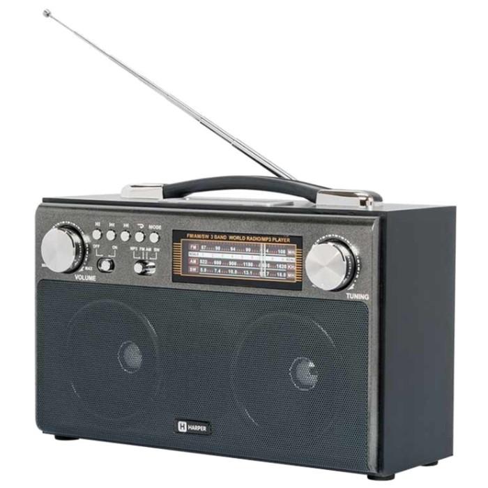 Радиоприемник Harper HDRS-033 Black, черный фото