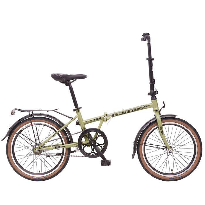 """Купить со скидкой Велосипед 20"""" Novatrack Aurora, 2016, 2 ск., цвет хаки"""