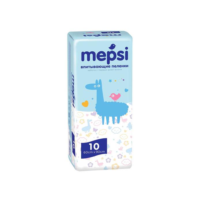 Пеленки детский впитывающие Mepsi 60х90, 10 шт фото
